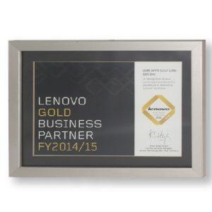 Lenovo Gold Business Partner Award